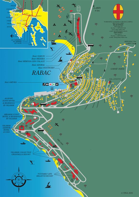 Istrien Karte Rabac.Karta Rapca