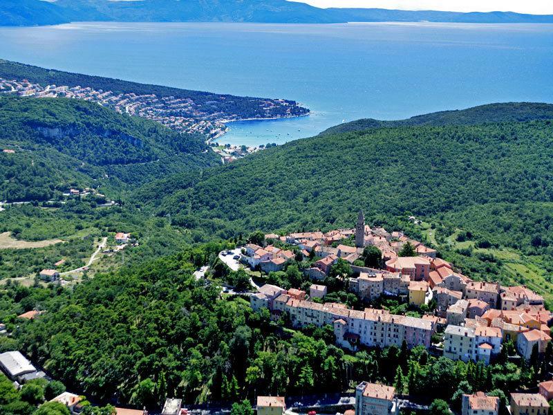 Istrien Karte Rabac.Tourismusverband Stadt Labin Rabac Istrien Kroatien